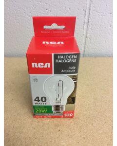 Halogen Lightbulbs - Clear - 1 per pack ~ 40W