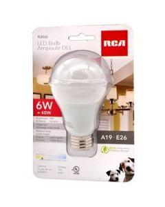LED Lightbulb - Warm White - 1 per pack ~ 6W {=40W}
