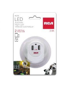 RCA LED Automatic Night Light with 2 USB Ports