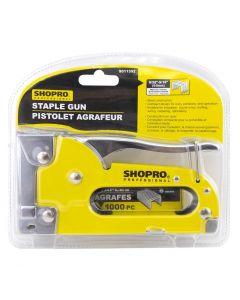 """ShopPro Staple Gun with 1000 - 1/4"""" Staples ~ Med. Duty"""