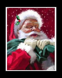 Christmas Micro Mink Throws ~ Happy Santa