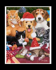 Christmas Micro Mink Throws ~ Festive Pets