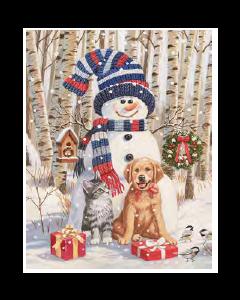 Christmas Micro Mink Throws ~ Snowman & Friends