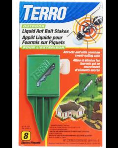Terro Outdoor Liquid Ant Bait Stakes ~ 8 per pack