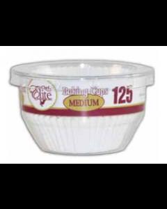 Chef Elite White Paper Baking Cups - Medium ~ 125 per pack