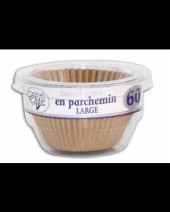 Chef Elite Parchment Baking Cups - Large ~ 60 per pack
