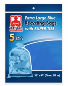 Tuff Guy Extra Large Blue Recycling Bags ~ 5 per pack