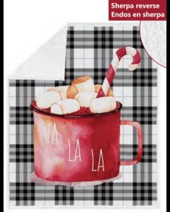 Christmas Photoreal Throws with Sherpa Back ~ Fa La La