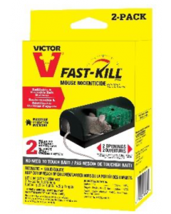 Victor Disposable Mouse Rodenticide Bait Station ~ 2 per pack
