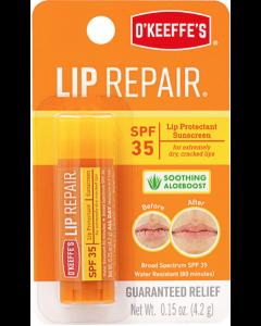 O'Keeffe's SPF35 Lip Repair w/Aloeboost Lip Balm - 4.2gr stick ~ 6 per display