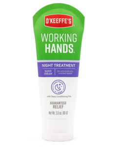 O'Keeffe's Working Hands Night Cream - 3oz Tube ~ 5 per counter display