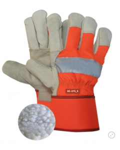 Boa Lined Work Glove with Reflective Band - Xlarge Only