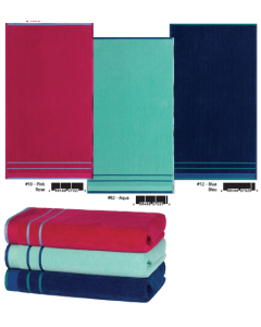 Solid Color Velour Beach Towels ~ 3 assorted
