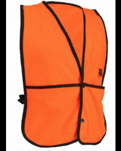 Fluorescent Orange Fleece Vest w/Snap Closure