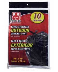 Tuff Guy Extra Strength Garbage Bags - Black ~ 10 per bag