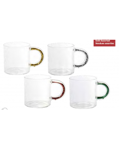 Christmas Glitter Handle Mugs - 14oz / 400ml