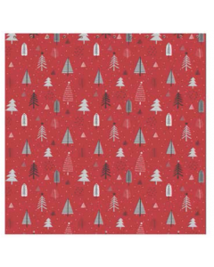 Christmas Water Resistant Shower Curtain with Hooks ~ Festive Trees