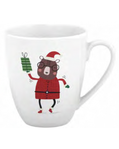 Christmas Festive Printed Mug - 12oz / 360ml ~ Dancing Bear
