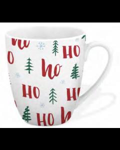 Christmas Festive Printed Mug - 12oz / 360ml ~ Ho Ho Ho