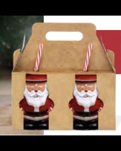 Christmas Santa Jar Drinkware with Straw - 16.9oz / 480ml ~ 2 per pack