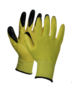 Polyester Nitrile Dipped Palm Glove - Fluorescent Yellow