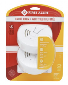 First Alert Basic Smoke Alarm - Pack of 2 ~ Battery Operated