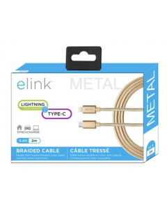 """eLink Lightning to Type-C Heavy Duty Braided Cable ~ 6'.6"""" / 2M"""