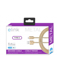 """eLink Type-C Heavy Duty Braided Cable ~ 6'.6"""" / 2M"""