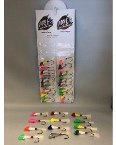 Shad Darts 1/4oz - assorted colors ~ 24 per card