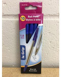 Ball Point Pens {1.0mm} - Blue Ink ~ 10 per box