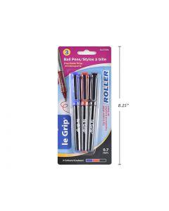 Selectum Roller Ball Pens (Black, Blue, Red Ink) ~ 3 per pack
