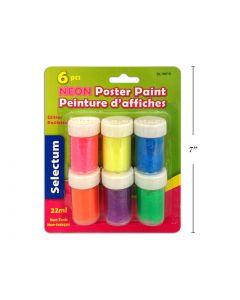 Selectum Neon Poster Paint ~ 6 per pack
