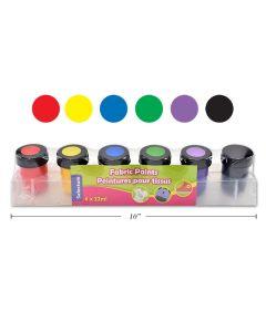 Selectum Fabric Paints ~ 6 per pack
