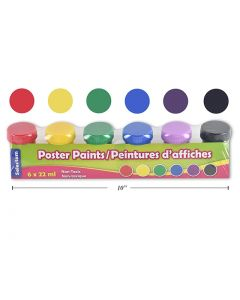 Selectum Poster Paint Pods w/Brush + Tray ~ 22ml each color