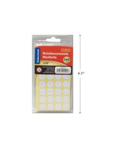 Selectum Self Adhesive White Paper Reinforcements ~ 540 per pack