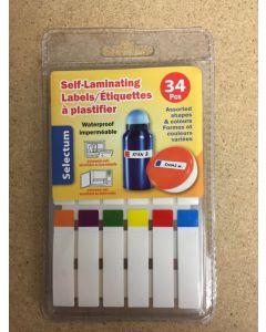 Selectum Self-Laminating Labels ~ 34 pieces