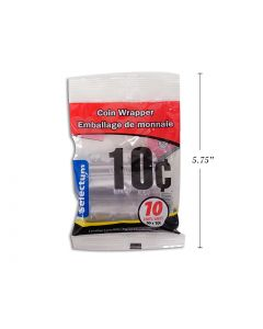 Plastic Coin Wrappers - 10 Cent ~ 10 per bag