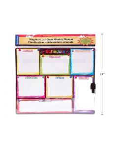 """Selectum Magnetic Dry Erase Weekly Planner + Marker ~ 12.5"""" x 10.4"""""""