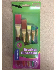 Selectum Craft Art Brushes ~ 5 per pack