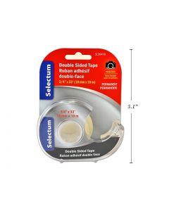 """Selectum Double Stick Tape w/Cutter ~ 3/4"""" x 33'"""