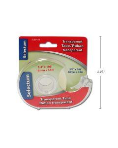 """Selectum Transparent Tape w/Cutter ~ 3/4"""" x 108'"""