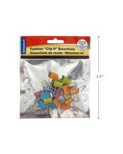 "Selectum Colored Foldback Clips - Mini - 3/5"" / 15mm ~ 18 per pack"