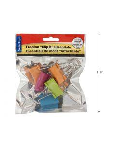 "Selectum Colored Foldback Clips - Medium - 1-1/4"" / 32mm ~ 6 per pack"