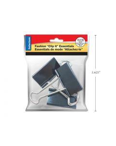 "Selectum Black Foldback Clips - Large - 2"" / 51mm ~ 3 per pack"