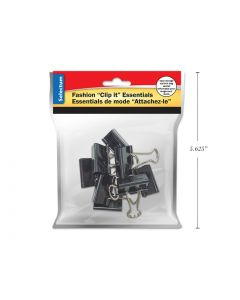 "Selectum Black Foldback Clips - Standard - 1"" / 25mm ~ 8 per pack"