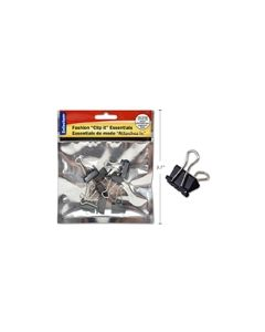 "Selectum Black Foldback Clips - Small - 3/4"" / 19mm ~ 8 per pack"