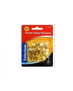 Selectum Thumbtacks - Brass Plated ~ 85 per pack