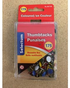 Selectum Colored Thumbtacks ~ 175 per pack