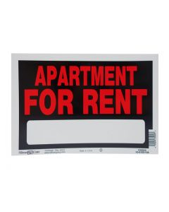 """PVC Sign - 8"""" x 12"""" ~ Apartment for Rent"""