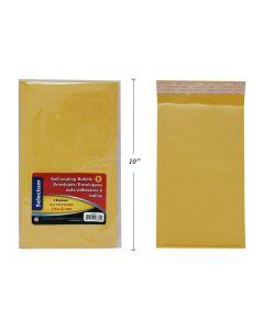 """Selectum Kraft Peel-N-Seal Bubble Envelopes - 6"""" x 10.5"""" ~ 3 per pack"""